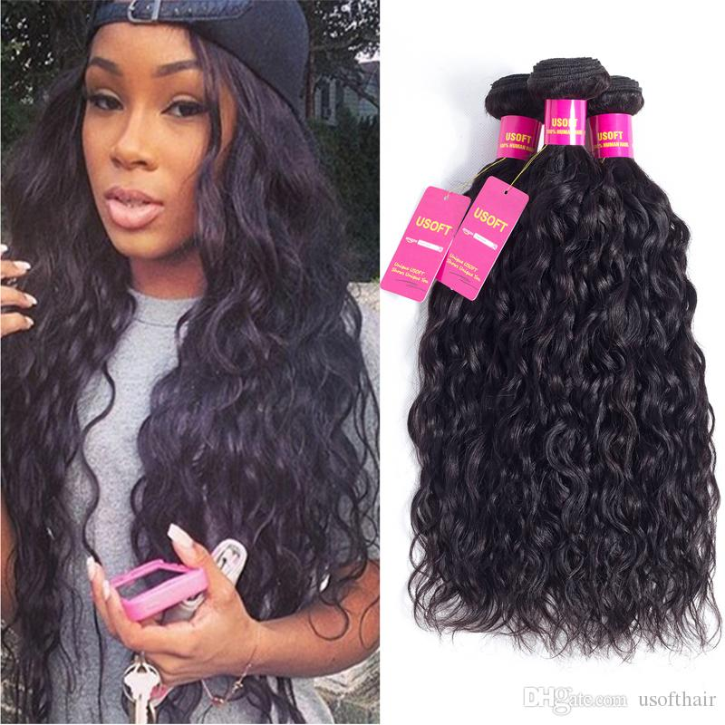 8a Brazilian Virgin Hair 3 Bundles Or Wet And Wavy Human Hair