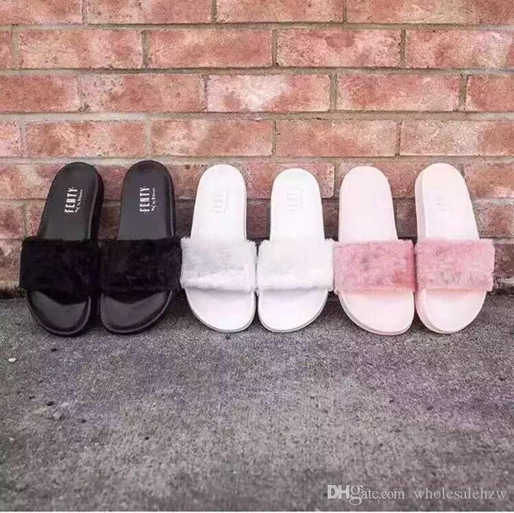 official photos fe559 b5dac Factory Outlets Leadcat Fenty Rihanna Shoes Women Slippers Indoor Sandals  Girls Fashion Scuffs White Grey Pink Black Slide High Heel Boots Pumps Shoes  From ...