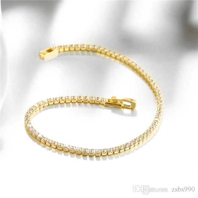 18K gold plated charm bracelet with CZ diamond fashion jewelry for women fine gift high quality cheap wholesale
