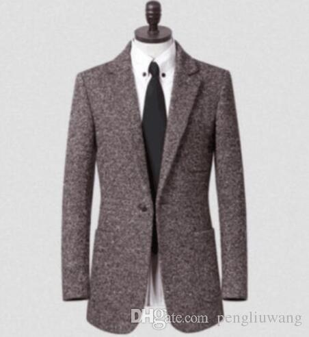 2f9926f3146 2019 Winter Korean Casual Wool Coat Men Suit Single Breasted Overcoat Mens  Cashmere Coat Casaco Masculino Inverno Erkek England From Pengliuwang