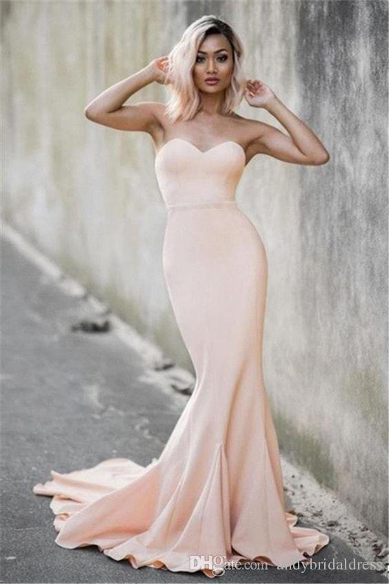 Sexy sirène bretelles robes de soirée sans manches longues robes formelles chérie robes festa pas cher robes de reconstitution personnalisée robe de bal