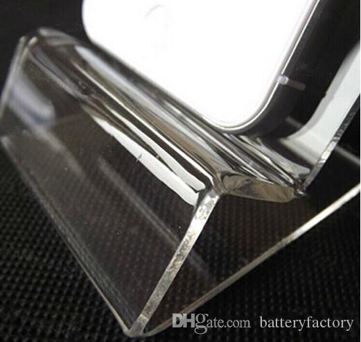 General Universal clara transparente de acrílico del montaje del soporte de exhibición para el iphone Samsung muestra el teléfono móvil del teléfono móvil