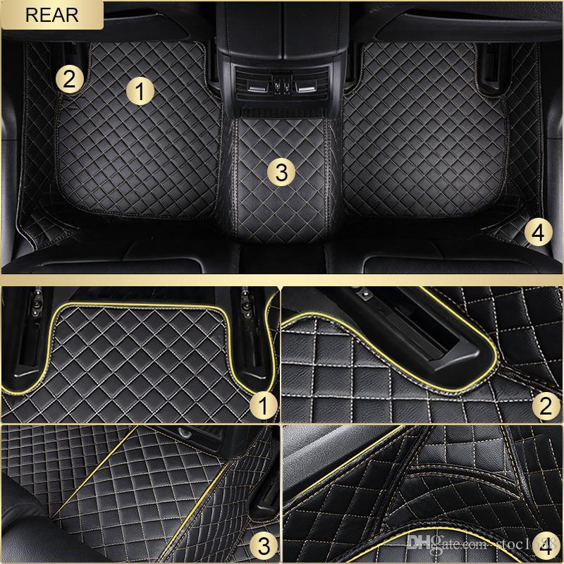 SCOT todas as estações do assoalho do carro do couro do tempo para Toyota RAV4 Waterproof os tapetes dianteiros do Anti-deslizamento da parte traseira 3D Custom-Fits Right-Hand-Driver-Model