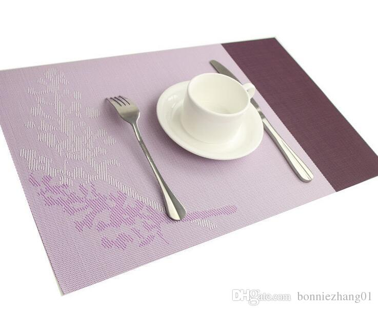 2017 Pvc Table Mat Place Mats Waterproof Non Slip Tablecloth Coaster Pad  Heat Insulated Dinner Table Pad 45x30cm From Bonniezhang01, $90.46 |  Dhgate.Com