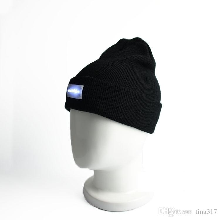 New Adult Led Winter Beanies Led light Beanies Hats knitted caps Warm Beanies Led Beanie Crochet Lighting Caps B1118