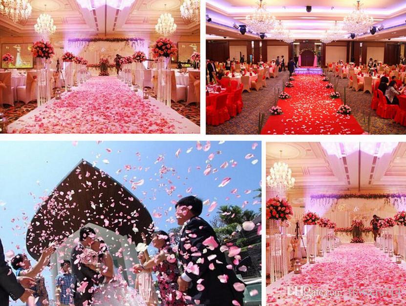 100 pçs / set 38 Cores De Seda Pétalas De Rosa Deixa Flores Artificiais Pétalas Decoração De Casamento Decoração Do Partido Decoração De Mesa Festival