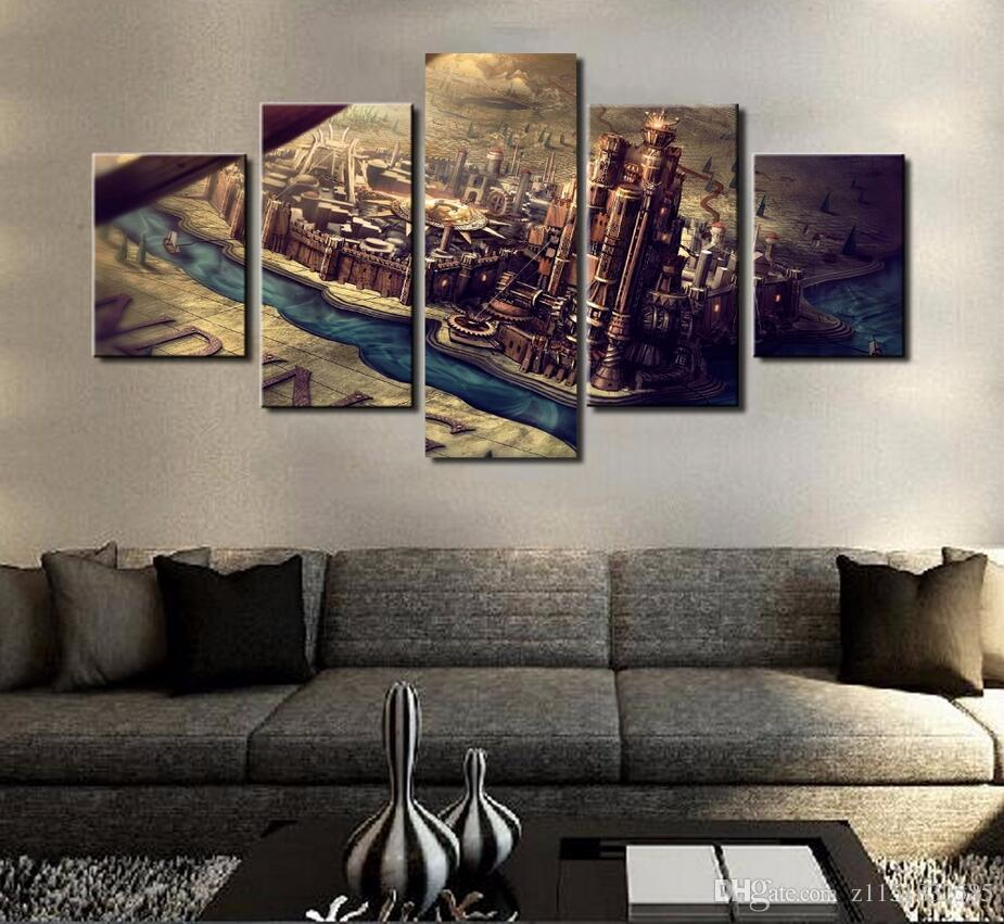 Attractive 2019 Home Decor Canvas Painting Abstract 5 Panel Game Of Thrones Theme  Decorative Paintings Modern Wall Pictures Wall Art Frame From Z1151832585,  ...