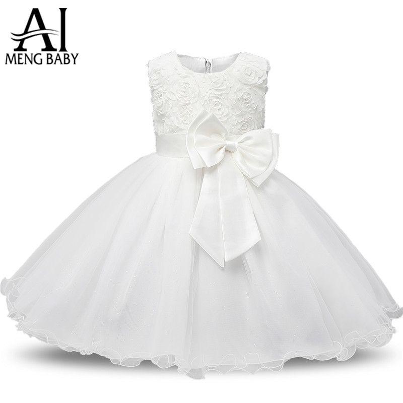be2f8adaf 2019 Ai Meng Baby Flower Princess Girl Dress Wedding First Birthday ...