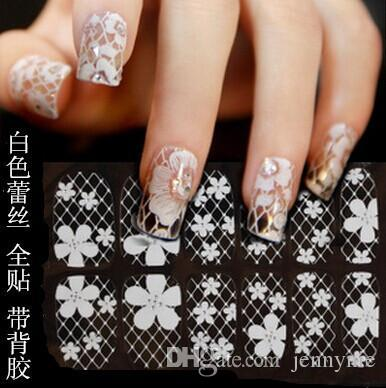 Bridal Nail Patch Angel Fingertip Bridal Nail Glitter Flowers