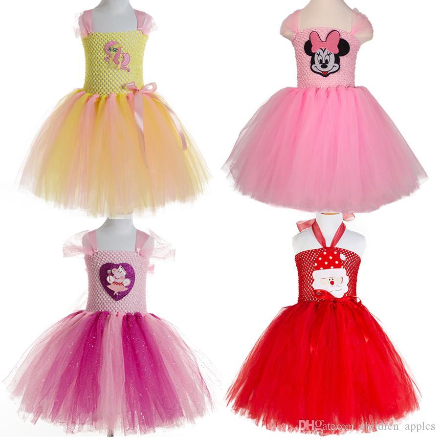 Compre 2017 2 12 Años Princesa Princesa Vestido Niñas Vestidos ...