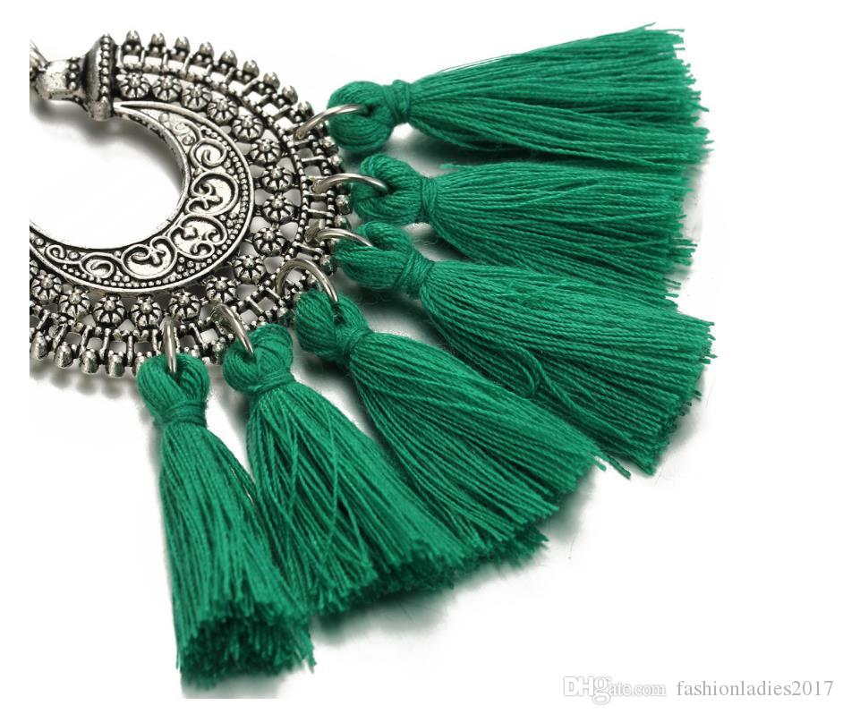 2017 Gland Boucles D'oreilles Pour Les Femmes Ethique Bohême Boho Style Court Glands Boucles D'oreilles Vintage Déclaration Bijoux
