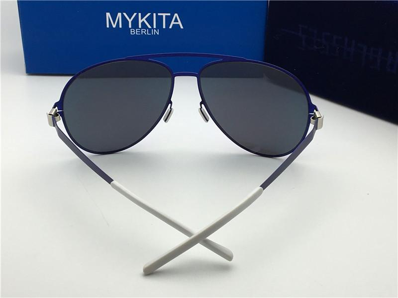 New mykita ERWIN sunglasses for man pilot frame with mirror ultralight frame Memory Alloy oversized sunglasses for women cool outdoor design