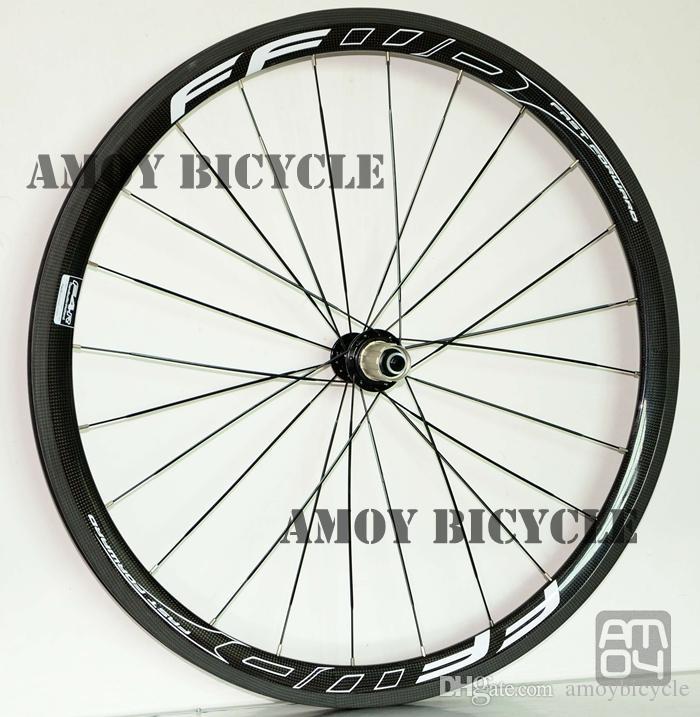 38 مم عمق 25 مم عجلات الكربون مع FFWD F4R الطلاء عجلات من سبائك الكربون لامع لامع الدراجة العجلات الفاصلة حر shippin
