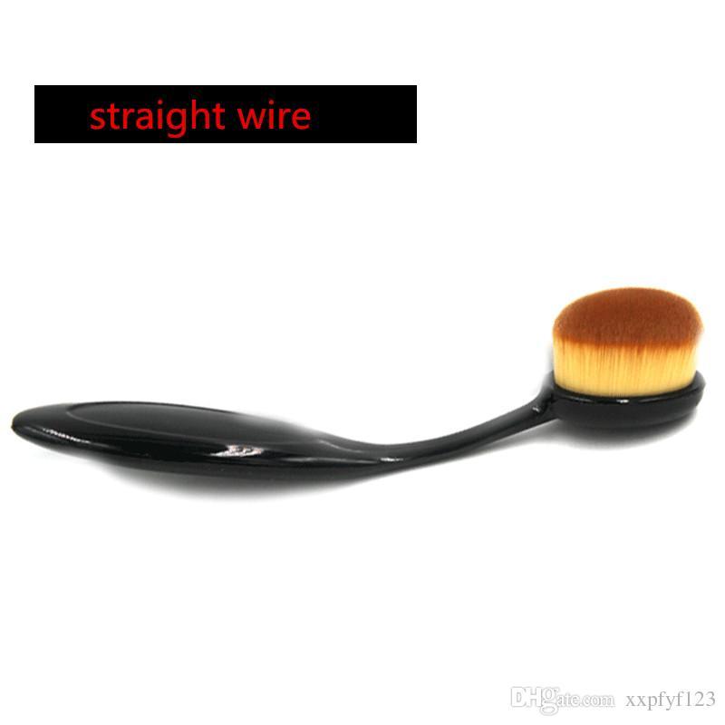 2017 Makeup Oval Brushes Best Blending Brushes Powder Face Brushes Foundation Eye Shadow Brush Soft Mermaid Toothbrush Cosmetic Tools B535