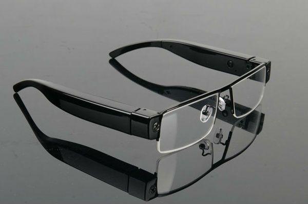 1080P Mini Glasses Camera Full HD Eyewear camera sunglasses DVR Mini camcorder audio video recorder wireless surveillance black