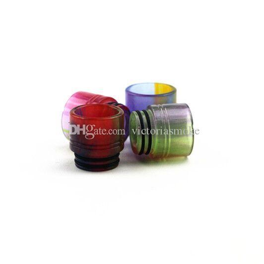 Kalite Epoksi Reçine damla İpucu Renkli Geniş Çap damla ipuçları 810 Smok TFV8 Tfv8 Tankı Perakende Paketi ile damla e cigs için ipuçları