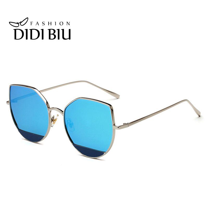 9db99e05eb6 DIDI Split Cat Eye Sunglasses Brand Ladies Candy Color Hippie Sun ...