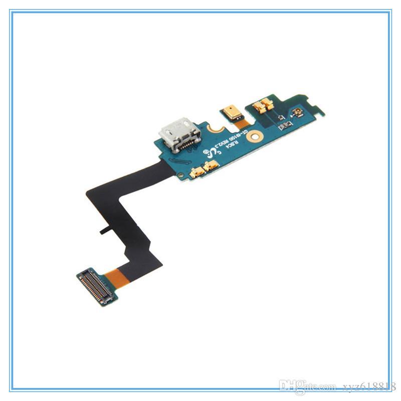Yedek Parçaları Dock USB Bağlantı Noktası Şarj Bağlayıcı Flex Kablo Samsung Galaxy S2 i9100 GT-i9100 USB Kısmı Flex Kabloları Ile Mikrofon
