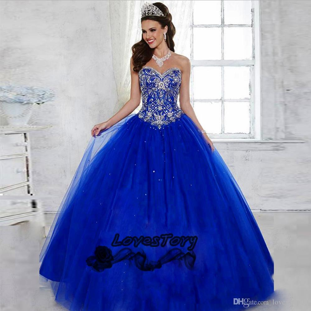 Vestidos De 15 Anos Debutante Royal Blue Ball Gown Cheap ...