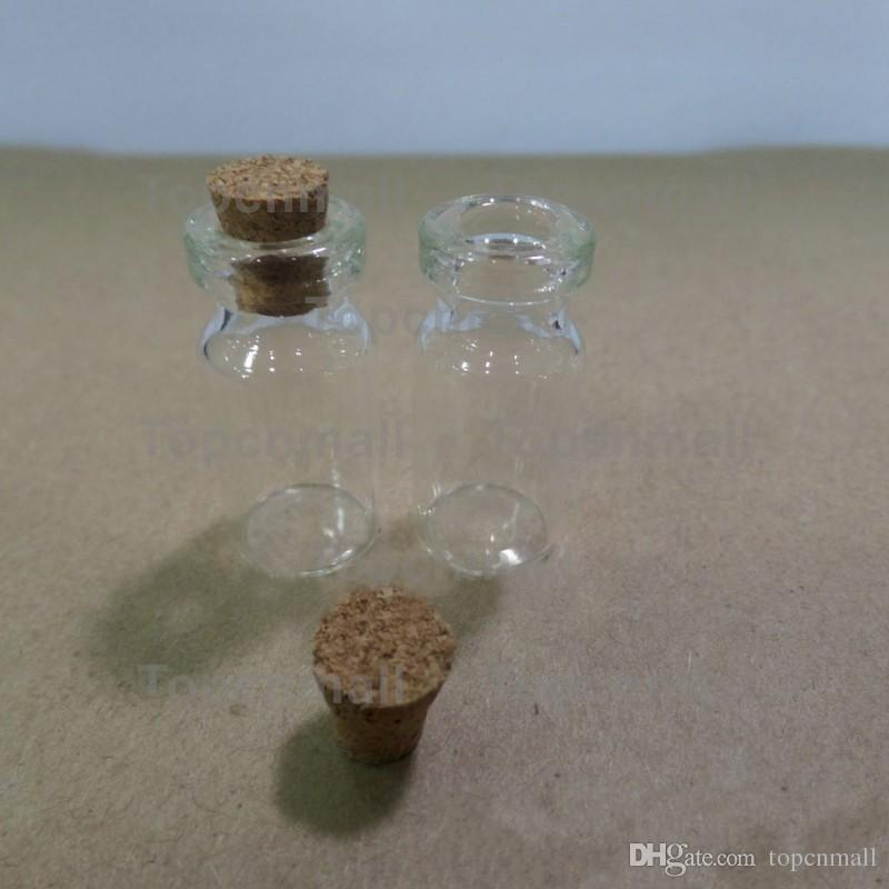 2ml Vials Clear Glass Bottles With Corks Mini Glass Bottle Wood Cap Empty Sample Jars Small 35x16mmHeightxDia Cute Craft Wish Bottles