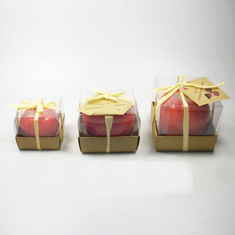 شمعة الفاكهة خمر أبل شمعة docor المنزل زخارف حزب رومانسية أبل الشموع المعطرة لحضور حفل زفاف عيد الميلاد