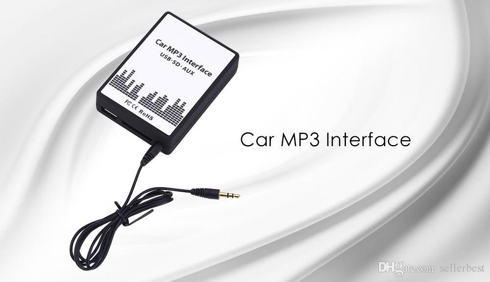 Carro MP3 Interface Cabo de Dados USB / SD de Áudio Digital CD Changer Sem Bateria Necessária Sem Sinal Interferir DC 12 V para Honda 2.4
