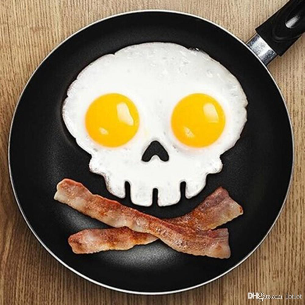Silicone Human skeleton skull Fried Egg Mold Pancake Ring Shaper Cooking Tools Kitchen Gadgets Fried Eggs tool