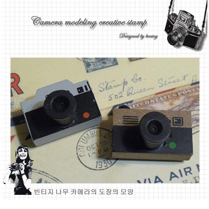 Старинные деревянные камеры штамп DIY наклейка для скрапбукинга штамп Zakka канцелярские дети девушка подарок на День рождения дети партия выступает ZA2244