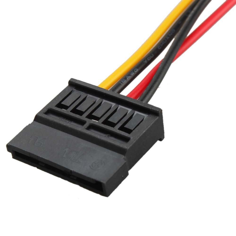 Wholesale- YOC-5* New 4-Pin IDE to 15-Pin SATA HDD Hard Disk Power Adapter Converter Cable