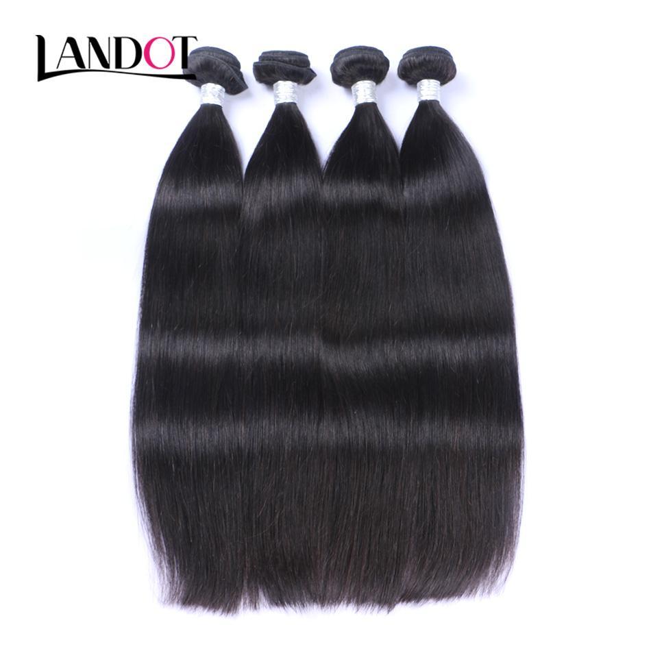 Unprocessed Peruvian Malaysian Indian Cambodian Brazilian Straight Virgin Human Hair Weaves Bundles Natural Color Remy Human Hair Extensions