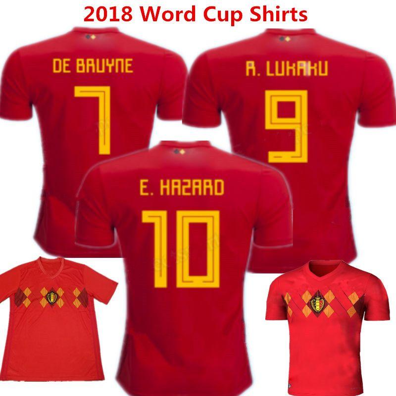 best cheap 06afd 22fa6 2018 Belgium Soccer Jersey Eden Hazard Kids Maillot de Foot De Bruyne Child  camisas de futbol Kompany Lukaku Benteke Russia Word Cup Shirts