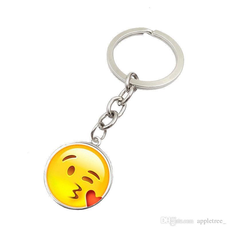 Gros emoji porte-clés chaînes porte-clés Smiley Visage porte-clés Emoji pendentifs porte-clés porte-clés porte-clés Accessoires de mode de Noël DHL