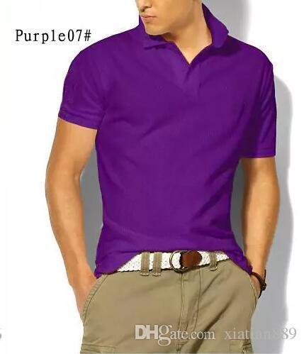 2019 nouvelle broderie estivale Cheval Polo Chemises homme Polo en coton mélangé Chemise Homme Chemise Décontractée Manches Courtes Chemise Décontractée Poney Camisa Tee