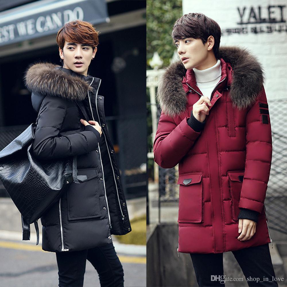 Men S Korean Fasion Winter: 2019 Korean Men Males Boys Casual Winter Warm Fashion Slim