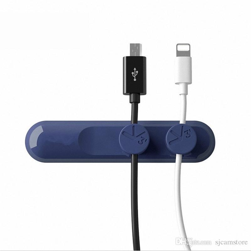 Magnetic Cable Organizer Cord Management Usb Charging Data Line Winder For Tv Earphone Phone Desktop Workstation Clips Desk
