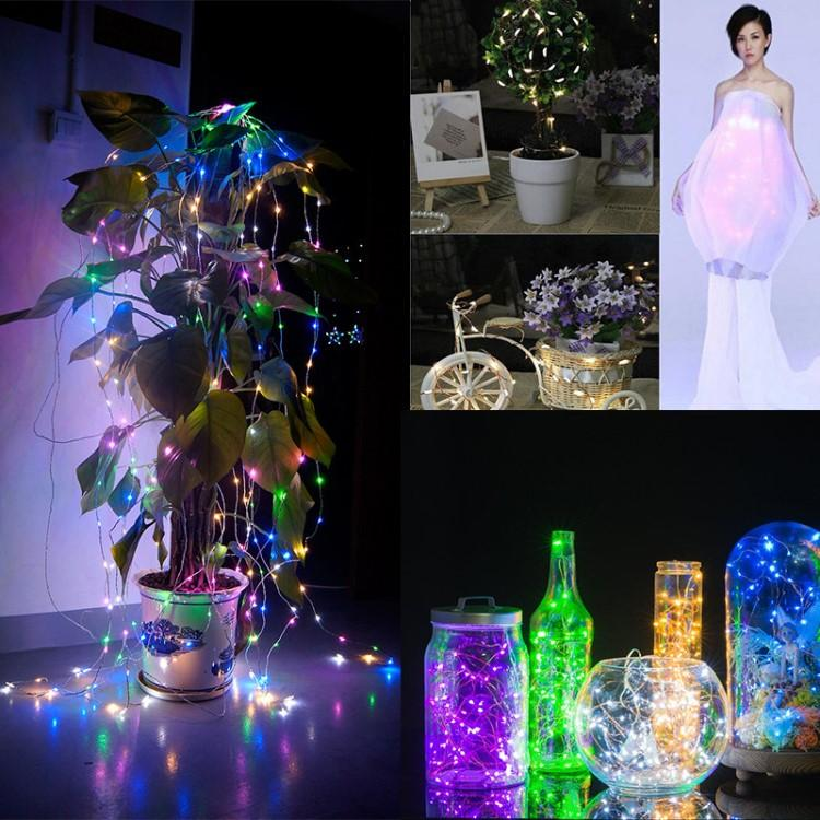 led copper wire string fairy light lights waterproof battery powered christmas wedding party decoration 2/3/4M