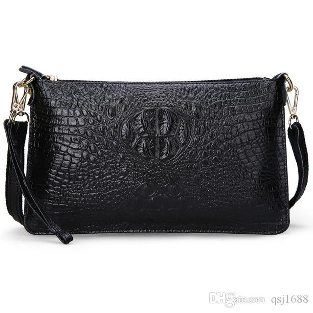 Women Bag Genuine Leather Crocodile Pattern Handbags Women Messenger Bags  Crossbody Female Small Shoulder Bag Clutch Brand Cheap Designer Handbags  Women ... 2bfe98b9f5109