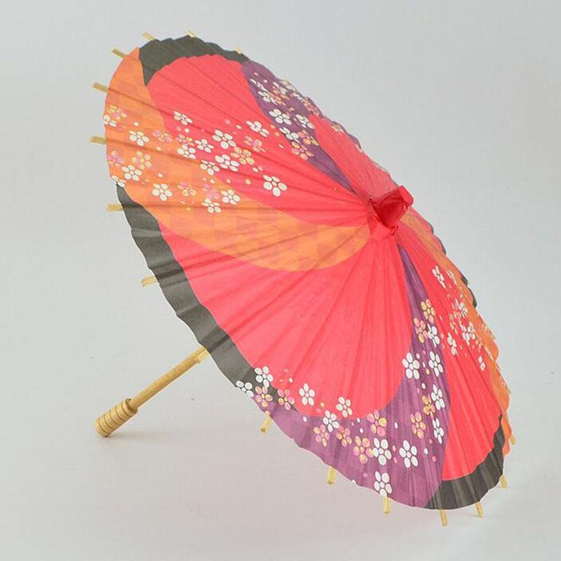 30cm Children Style Japanese Paper Umbrella Mini Hand-painted Long-straight Craft Parasols Home Decoration ZA4247