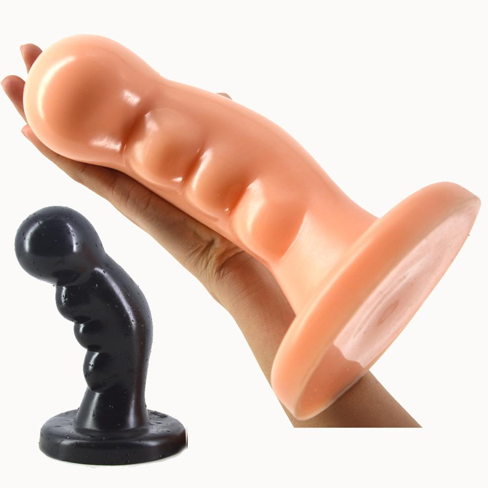 Huge dildo in butt