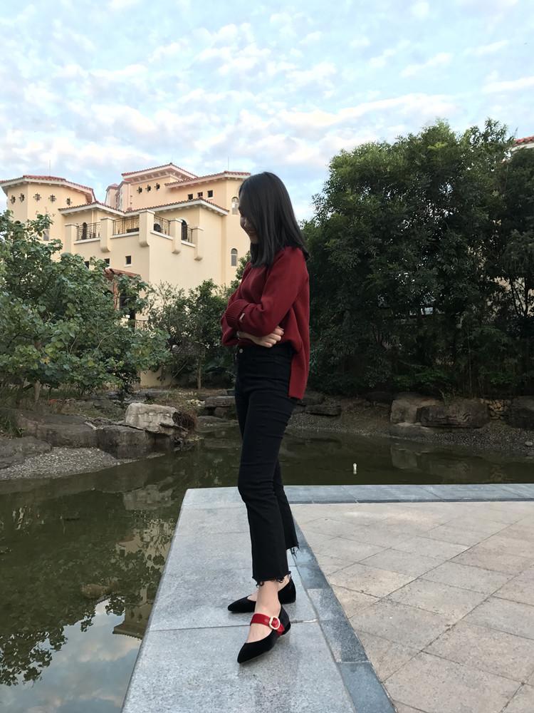 ALTA QUALITÀ! u712 cintura di velluto vera pelle appartamenti a punta scarpe bordeaux marrone marrone moda p