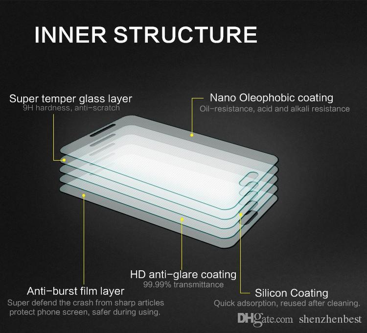 9H HD Premium Tempered Glass para Sony Z / Z1 / Z2 / Z3 / Z4 / Z5 / Z5P / Z1mini / Z3mini / Z4mini / Z5mini / M / Aqua Pantalla a prueba de explosiones /