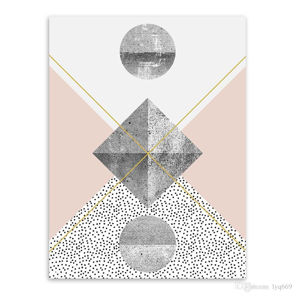 Modern Nordic Abstract Geometric Texture Shape Big Wall Art Print Poster Canvas No Frame Living Room Home Decor Picture Painting