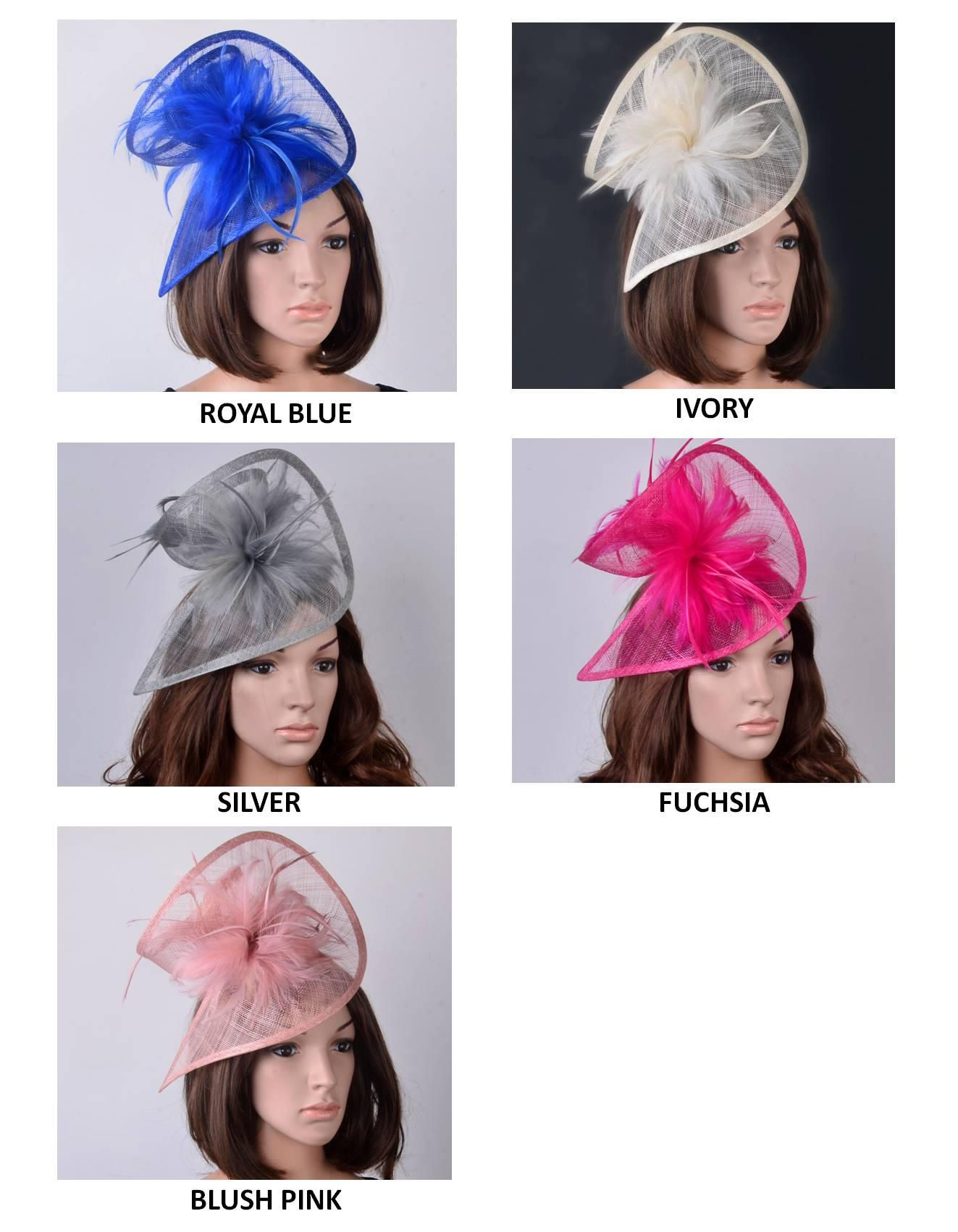 a22e5768 NEW Two Sides Special Shape Sinamay Fascinator Hat With Feathers For Kentucky  Derby,Wedding,Church,Races,Party Hats For The Races Ladies Hats Uk From ...