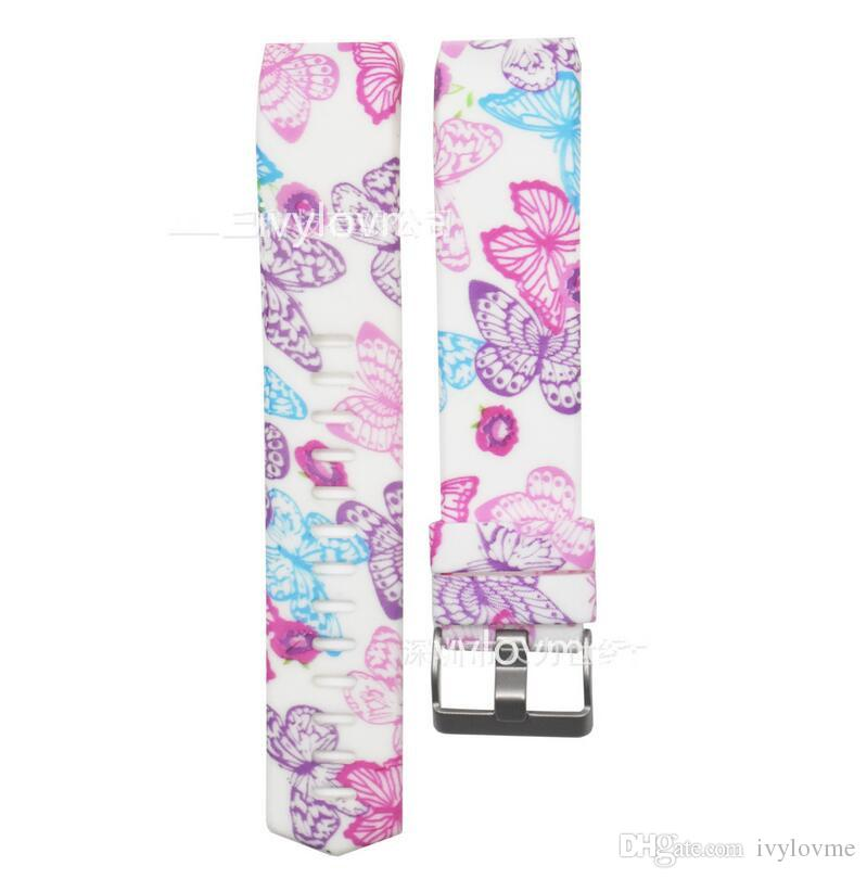 Silicone Straps Fitbit Charge 2 Band, Replacement Rubber Band for Fitbit Charge 2 without Tracker, Printed Patterns