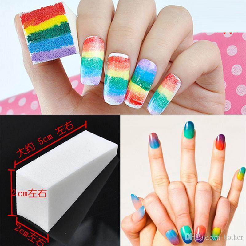 Wholesale New Woman Salon Nail Sponges Makeup Manicure Nail Art ...