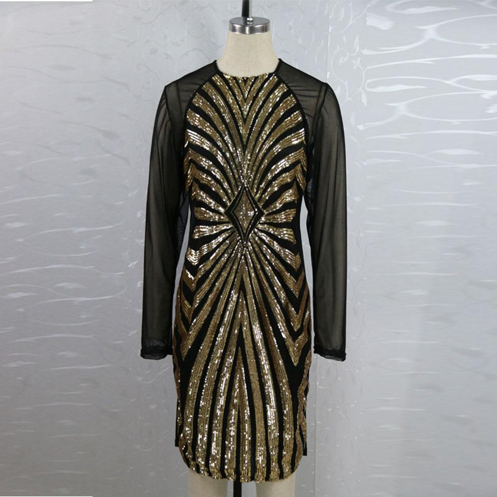 Plus Size XXXL Red Gold Champagne Sexy Sequins Dress Bandage Bodycon Night Club Vestidos Exotic Apparel Ukraine Vestido De Festa W374472