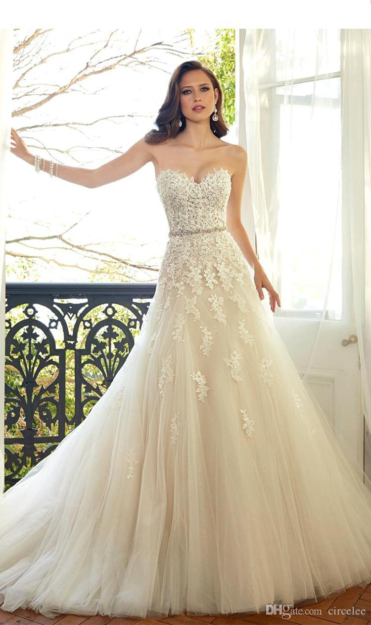 Discount 2017 Vintage Country Western Wedding Dresses Strapless