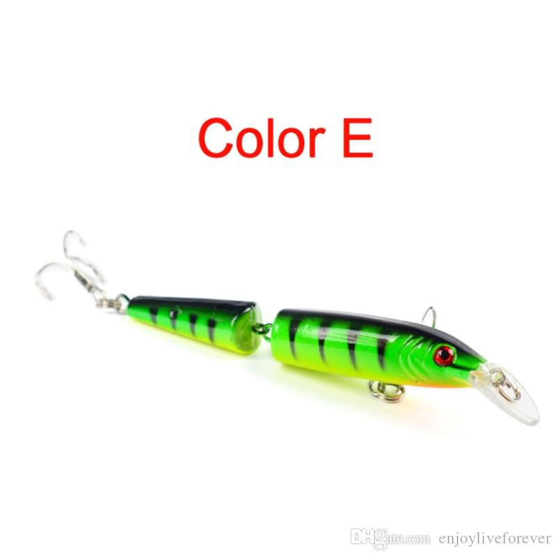Double Jointed Fishing Lures 10.5cm 9.6g Lifelike Minnow Fishing Baits Plastic Hard Lure for Saltwater