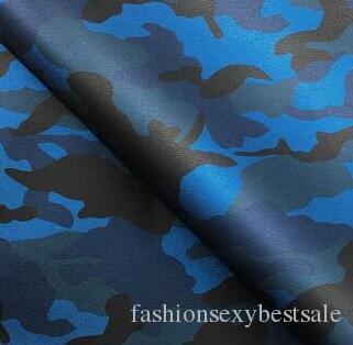 kamuflaj çanta ayakkabı giyim pu deri kumaş serin divan Toptan 7 renk şerit Otomobil tekstil kumaş deri cüzdanlar Mobilya B011 faux