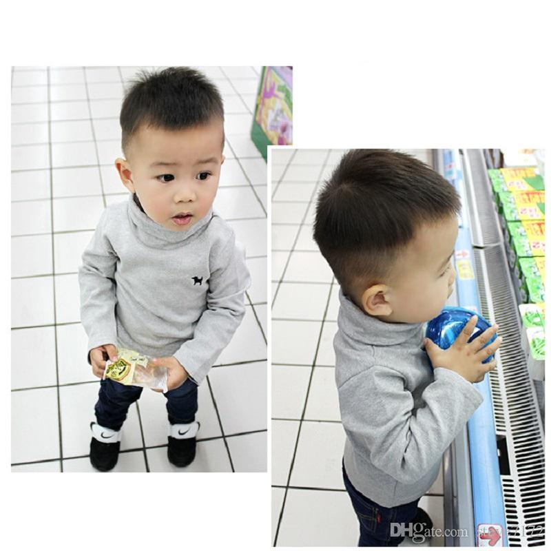 Fashion Solid Children Clothes Autumn Long Sleeve Boys T-Shirts Girls Bottoming Shirts Tees Cotton Tops For Kids Underwear Soft